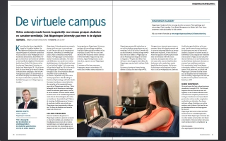 Photography about online learning at Wageningen University in alumni magazine Wageningen World