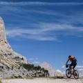 Mountainbiken in de Dolomieten, Italië