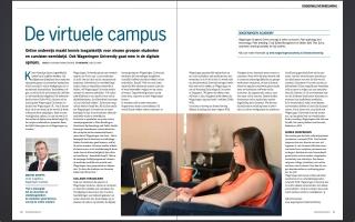 Photography about online learning at Wageningen University in alumni magazine Wageningen World