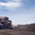 De Bromo-vulkaan spuwt as uit over Java, Indonesië