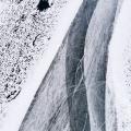 Winters lijnenspel op de uiterwaarden van de Nederrijn