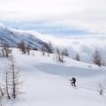Sneeuwschoenwandelen in Wallis, Zwitserland