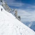 Klim naar de Chüebodenhorn, Tessin/Wallis, Zwitserland