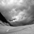 Een touwgroep in het Berner Oberland, Zwitserland